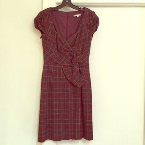 Nanette Lepore Burgundy Plaid Dress